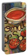 Tomato Soup Recipe Portable Battery Charger by Jen Norton