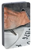 Tombstone Engraver At Work Portable Battery Charger