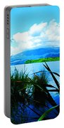 Tongariro National Park Oil On Canvas Portable Battery Charger