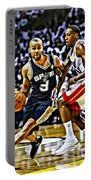 Tony Parker Painting Portable Battery Charger