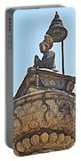 Top Of Stone Pillar In Bhaktapur Durbar Square In Bhaktapur-nepal Portable Battery Charger