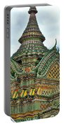 Top Of Temple In Wat Po In Bangkok-thailand Portable Battery Charger
