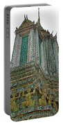 Top Of Temple Of The Dawn-wat Arun In Bangkok-thailand Portable Battery Charger