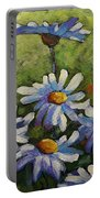 Top Of The Bunch Daisies By Prankearts Portable Battery Charger