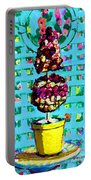 Topiary Of Dried Roses Portable Battery Charger