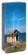 Torekov Beach Hut Painting Portable Battery Charger