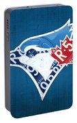 Toronto Blue Jays Baseball Team Vintage Logo Recycled Ontario License Plate Art Portable Battery Charger