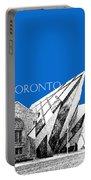 Toronto Skyline Royal Ontario Museum - Blue Portable Battery Charger