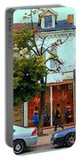 Toronto Stroll Past Fashion Stores Downtown Early Autumn Urban City Scenes Canadian Art C Spandau Portable Battery Charger