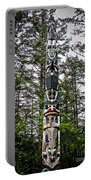 Totem Pole Of Southeast Alaska Portable Battery Charger by Robert Bales
