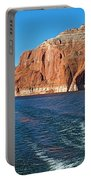 Tour Boat Wake In Lake Powell In Glen Canyon National Recreation Area-utah  Portable Battery Charger