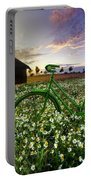 Tour De France Portable Battery Charger by Debra and Dave Vanderlaan