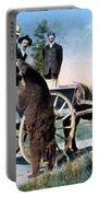 Tourist Feeding Bear Yellowstone Np Portable Battery Charger