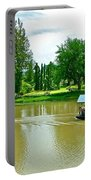 Tourist Raft Being Towed On River Kwai In Kanchanaburi-thailand Portable Battery Charger