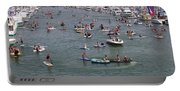 Tourists Enjoying In The Ocean, Dana Portable Battery Charger