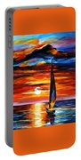 Towards The Sun - Palette Knife Oil Painting On Canvas By Leonid Afremov Portable Battery Charger