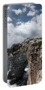 Stunning Tower Over The Cliffs Of Alcafar In Minorca Island - Tower And Sea Portable Battery Charger