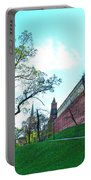 Tower And Wall From Park Outside Kremlin In Moscow-russia Portable Battery Charger