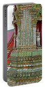 Tower At Temple Of The Dawn-wat Arun In Bangkok-thailand Portable Battery Charger