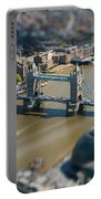 Tower Bridge And London City Hall Aerial View Portable Battery Charger