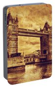 Tower Bridge In London Uk Vintage Style Portable Battery Charger