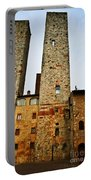 Towers Of San Gimignano Portable Battery Charger