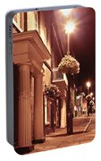 Town At Night Portable Battery Charger