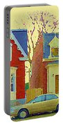 Town Houses In Winter Suburban Side Street South West Montreal City Scene Pointe St Charles Cspandau Portable Battery Charger