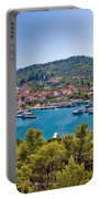 Town Of Kukljica Aerial View Portable Battery Charger