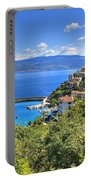 Town Of Vrbnik Green Landscape Portable Battery Charger
