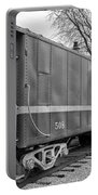 Tpw Rr Caboose Black And White Portable Battery Charger