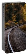 Tracks Through The Mountains  Portable Battery Charger by Bob Orsillo