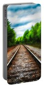 Tracks Through The Woods Portable Battery Charger
