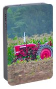 Tractor In A Corn Field Portable Battery Charger