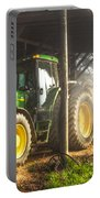 Tractor In The Morning Portable Battery Charger