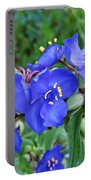 Tradescantia Blooming Portable Battery Charger