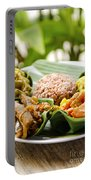 Traditional Vegetarian Curry With Rice In Bali Indonesia Portable Battery Charger