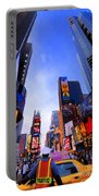 Traffic Cop In Times Square New York City Portable Battery Charger