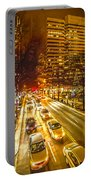 Traffic In A Big City Portable Battery Charger