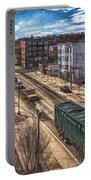 Traffic On Lincoln Street Portable Battery Charger
