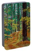 Trail At Wason Pond Portable Battery Charger