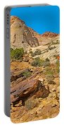 Trail Up To The Tanks From Capitol Gorge Pioneer Trail In Capitol Reef National Park-utah Portable Battery Charger