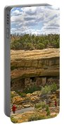 Trail View Of Spruce Tree House On Chapin Mesa In Mesa Verde National Park-colorado Portable Battery Charger