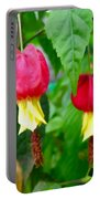 Trailing Abutilon Or Lantern  Flower Portable Battery Charger