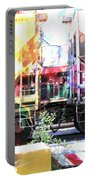 Train Abstract Blend 1 Portable Battery Charger