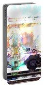 Train Abstract Blend 4 Portable Battery Charger