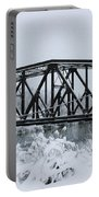 Train Bridge Over The Genesee River Portable Battery Charger