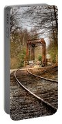 Train Memories Portable Battery Charger by Debra and Dave Vanderlaan