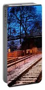 Train Station First Snow Portable Battery Charger
