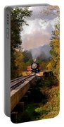 Train Through The Valley Portable Battery Charger by Robert Frederick